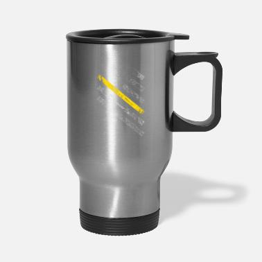 Yellow Tow Truck Driver Gift Thin Yellow Line - Travel Mug