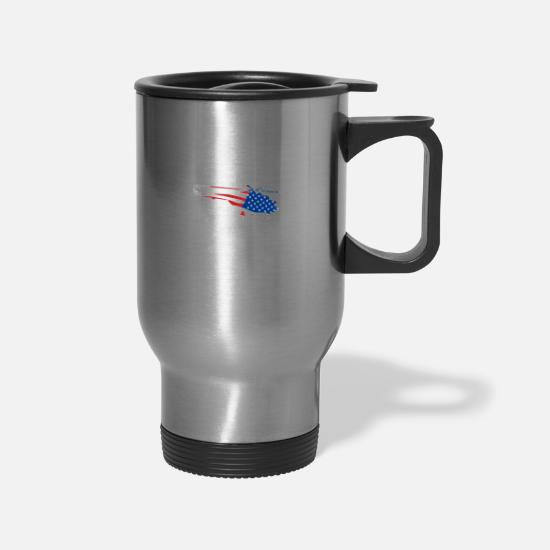 Special Forces Mugs & Drinkware - Helicopter Army Veterans Day - Travel Mug silver