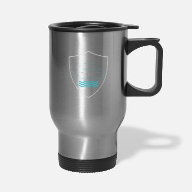 Pool Police Bademeister Swimming Life Guard Beach - Travel Mug