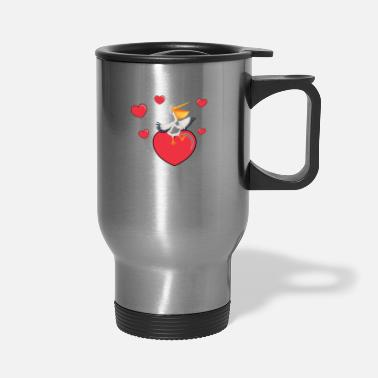 Pelican Pelican On A Heart - Travel Mug