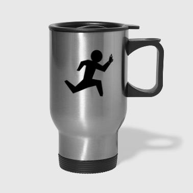 running man - Travel Mug