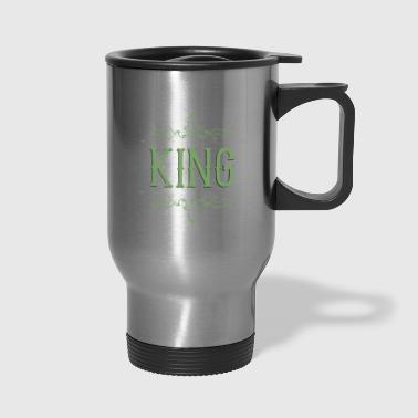 King. Prince. Partner. Queen. Love. Lettering - Travel Mug