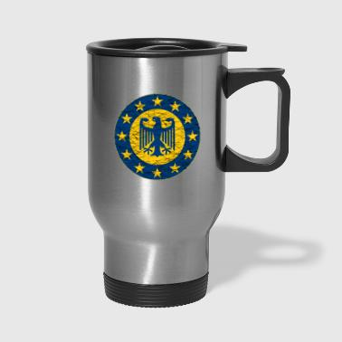 EU and German Flag - Travel Mug
