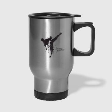 taekwondo Silhouette art word - Travel Mug