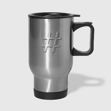Tic Tac Toe Hashtag - Travel Mug