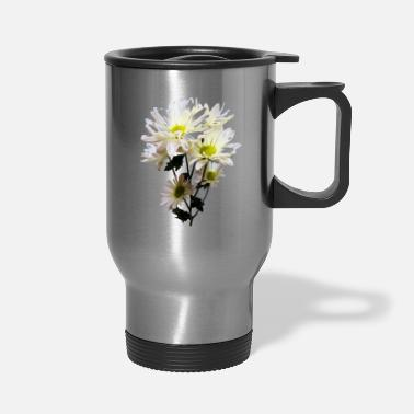 White White Daisies - Travel Mug