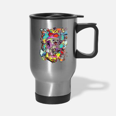 Geek Funny cartoon game graffiti - Travel Mug