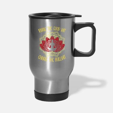 Inhale INHALE THE GOOD SHIT EXHALE THE BULLSHIT - Travel Mug