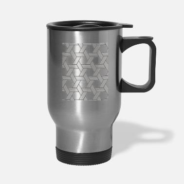 Painting Geometric seamless vector pattern - Travel Mug