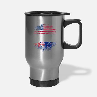 Flag american grown with new zealand roots original - Travel Mug