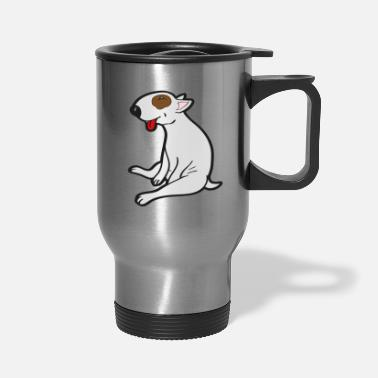 Bull Sitting Bull Terrier - Travel Mug