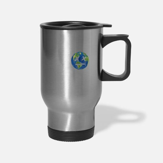 Birthday Mugs & Drinkware - There Is No Planet B | Nature Earth Planet Gift - Travel Mug silver