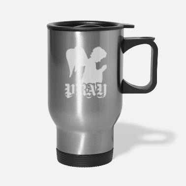 Ángel Pray Angel - praying child angel - Travel Mug