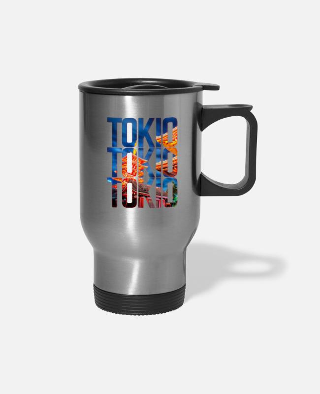 Lights Mugs & Cups - Tokio Japan - Travel Mug silver