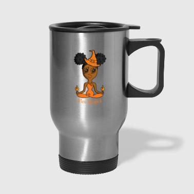 African American Fire Witch - Travel Mug