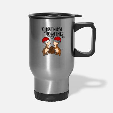 Roast Chestnuts Roasting - Travel Mug