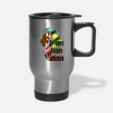 Iron Metal Reggae music, rastafari, Iron, lion, zion metal - Travel Mug