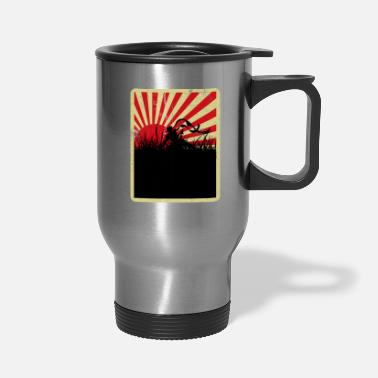 Sun Japanese Samurai Warrior - Travel Mug
