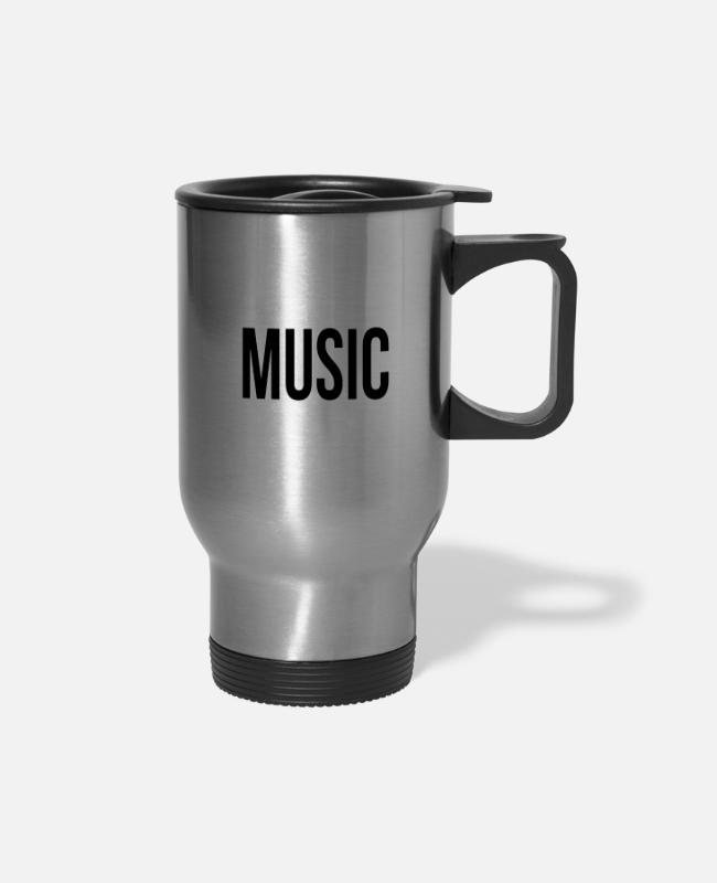 Raven Mugs & Cups - Loud Music Please DJ DeeJay Club Rave - Travel Mug silver