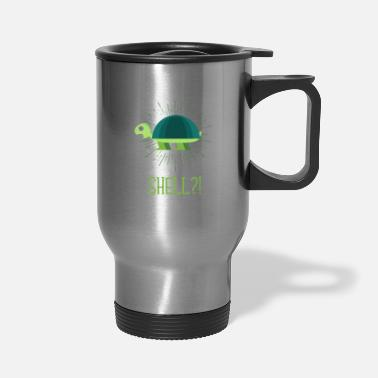 Sealife Funny Turtle Ocean Shell Environment Reptile - Travel Mug