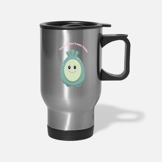 Animal Mugs & Drinkware - Happy creature - Travel Mug silver