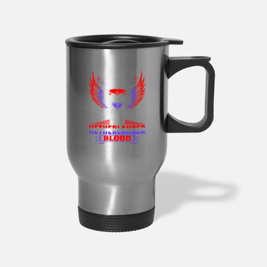 Love Mugs & Drinkware - Queens Are Born In December With Netherland blood - Travel Mug silver