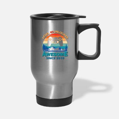 Since Birthday 10 Years Old Awesome Since 2010 T Shirt - Travel Mug