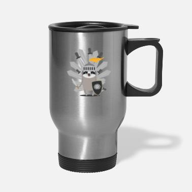 Knights Medieval Sloth King with swords - Travel Mug