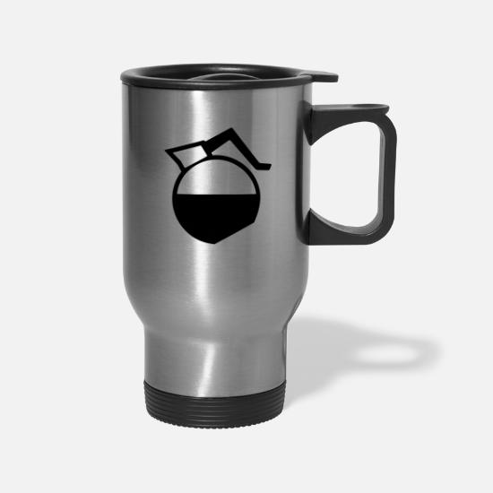 Gift Idea Mugs & Drinkware - coffee pot - Travel Mug silver