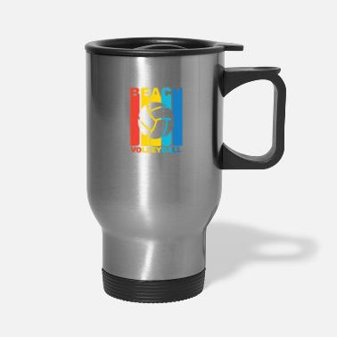 Beach Volleyball Vintage Beach Volleyball Graphic - Travel Mug