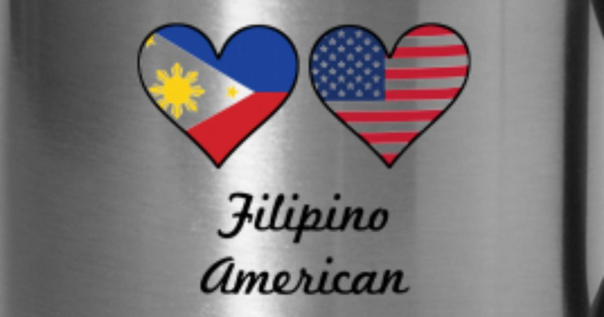 4b71391ef82 Filipino American Flag Hearts by Awesome Shirts
