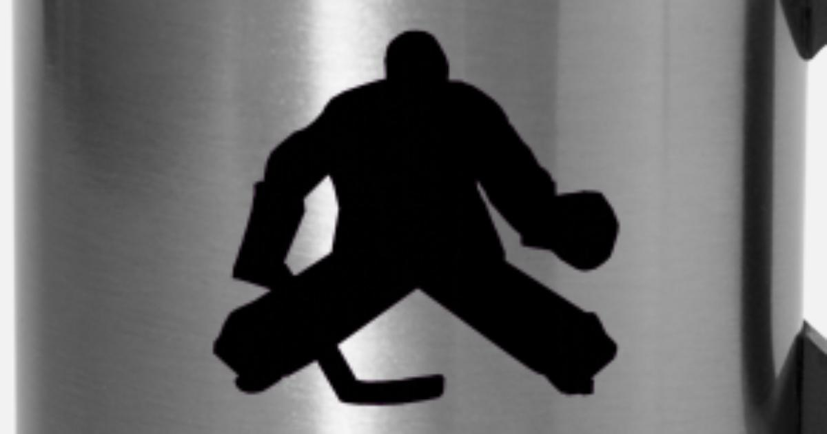 Hockey Goalie Silhouette Travel Mug Spreadshirt