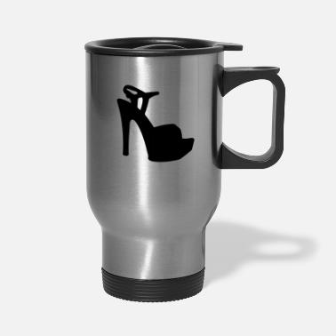 Highheeled Shoes Vector high heels shoes Silhouette - Travel Mug