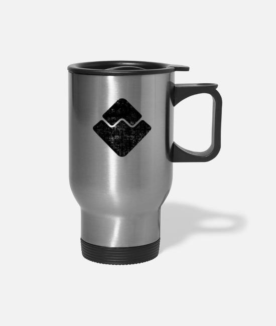 Tech Mugs & Cups - Waves - Travel Mug silver