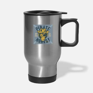 Chimpanzee monkey street 4 - Travel Mug