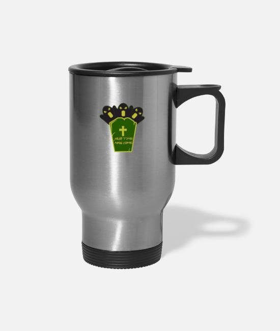 Treat Mugs & Drinkware - Halloween with a grave - Travel Mug silver