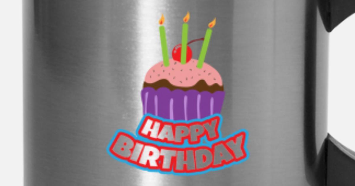 Happy Birthday 3 Cake