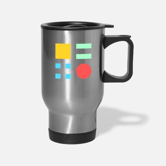 Colorful Mugs & Drinkware - colorful - Travel Mug silver