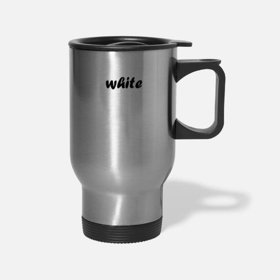 Gift Idea Mugs & Drinkware - white - Travel Mug silver