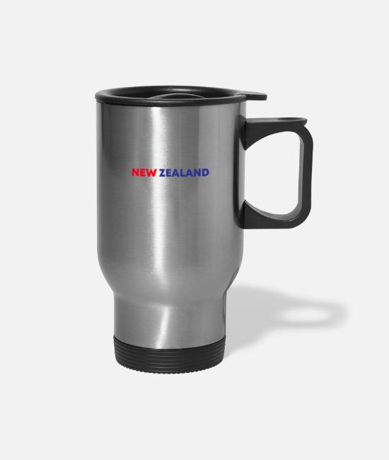 New Zealand Mugs & Cups - New Zealand Rugby Fan Gift Idea - Travel Mug silver