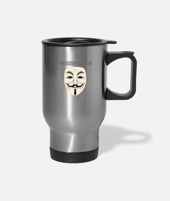 Anonymous Mugs & Drinkware - Anonymous - Travel Mug silver