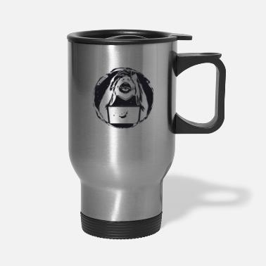 Primate monkey laptop gorilla primate animal print - Travel Mug