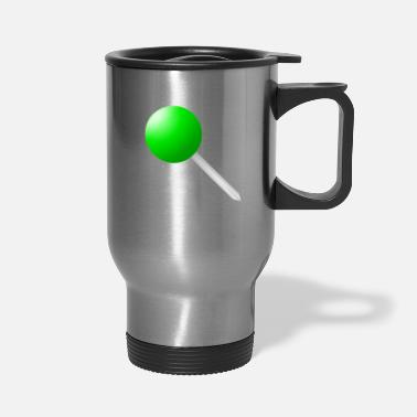 Manifestation Needle in darker green - Travel Mug