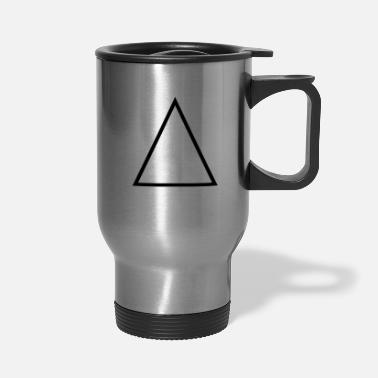 Outline Triangle Outline - Travel Mug