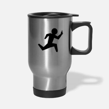 Running running man - Travel Mug