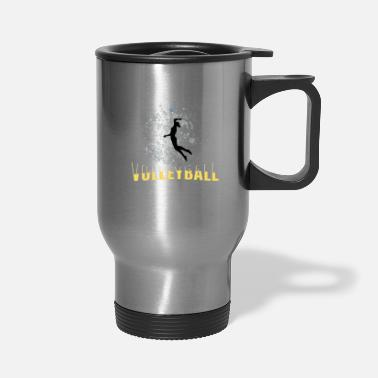 Volleyball Player Player Volleyball female player - Travel Mug