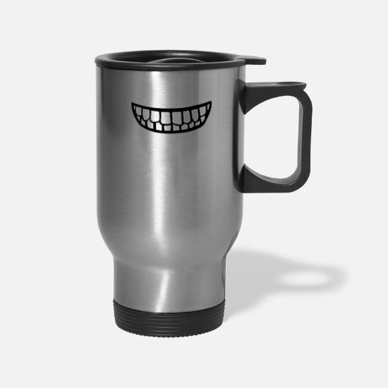 Teeth Mugs & Drinkware - Teeth - Travel Mug silver