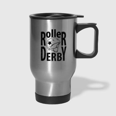 Typography Roller derby helmet typography - Travel Mug