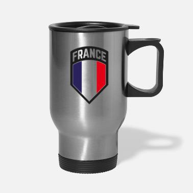 French Flag France French Flag coat of arms blazon gift - Travel Mug