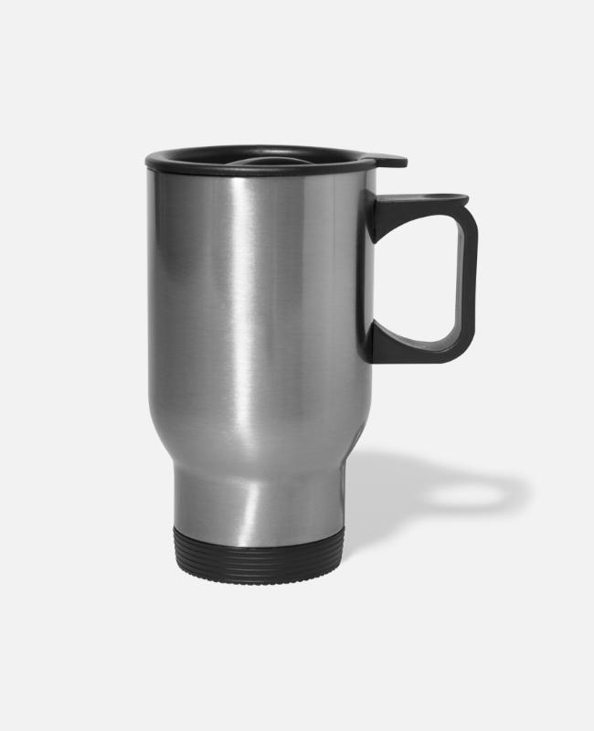 Chain Mugs & Cups - Strive sussess value - Travel Mug silver